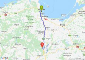 Trasa Gdynia - Warlubie