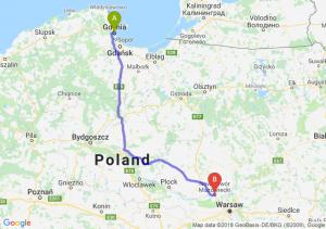 Trasa Gdynia - Nowy Dwór Mazowiecki