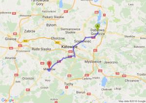 Trasa Dąbrowa Górnicza - Mikołów