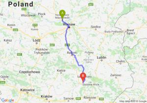 Trasa Nowy Dwór Mazowiecki - Tarnobrzeg