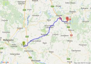 Trasa Toruń - Olsztynek