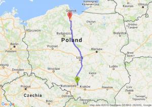 Trasa Dąbrowa Górnicza - Starogard Gdański