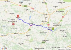Trasa Przygłów - Kalisz