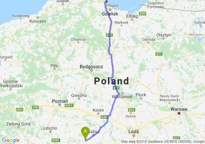 Trasa Ostrów Wielkopolski - Gdynia