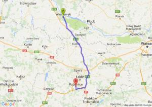 Trasa Włocławek - Pabianice
