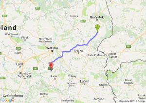 Trasa Bielsk Podlaski - Białobrzegi