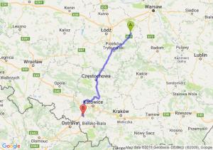 Trasa Rawa Mazowiecka - Żory