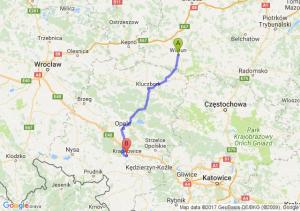 Trasa Wieluń - Krapkowice