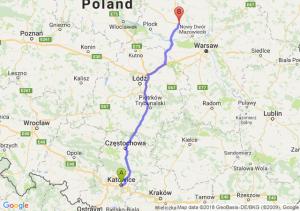 Trasa Katowice - Płońsk