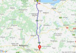 Trasa Gdańsk - Lubicz Dolny