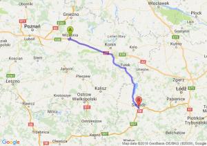 Trasa Września - Sieradz