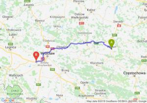 Trasa Wieluń - Kąty Wrocławskie