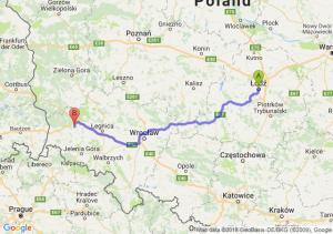 Trasa Łódź - Bolesławiec