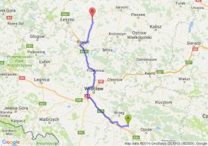 Lewin Brzeski (opolskie) - Gostyń (wielkopolskie)