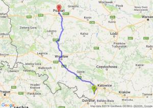 Trasa Rybnik - Poznań