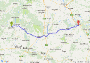 Człuchów (pomorskie) - Ostróda (warmińsko-mazurskie)