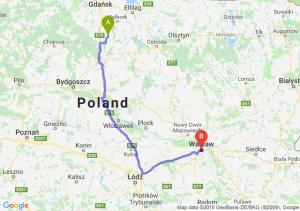 Trasa Gniew - Warszawa