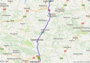 Trasa Dąbrowa Górnicza - Brzeziny