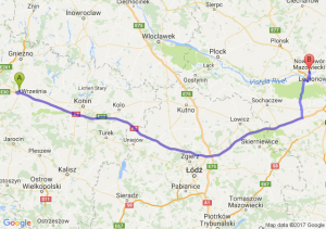 Trasa Września - Nowy Dwór Mazowiecki