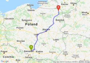 Trasa Gliwice - Suwałki