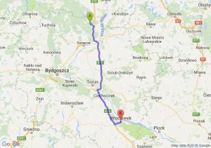 Trasa Warlubie - Włocławek