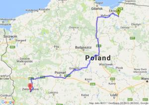 Trasa Pasłęk - Zielona Góra