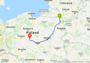 Trasa Suwałki - Konin