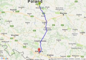 Trasa Włocławek - Katowice