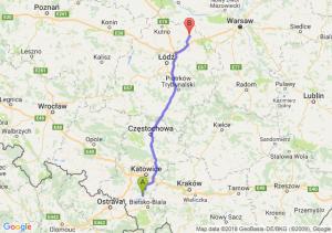 Trasa Pszczyna - Łowicz