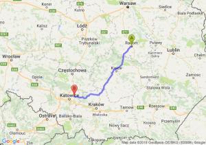 Trasa Radom - Dąbrowa Górnicza