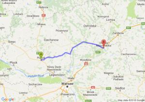Trasa Płońsk - Ostrów Mazowiecka