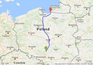 Trasa Częstochowa - Braniewo