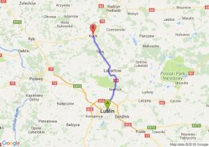 Trasa Lublin - Kock