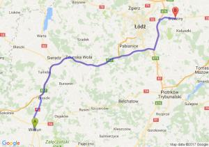 Trasa Wieluń - Brzeziny