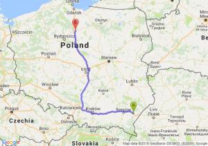 Trasa Jarosław - Grudziądz