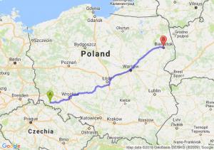 Trasa Jelenia Góra - Białystok