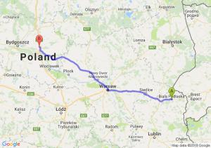 Trasa Biała Podlaska - Turzno