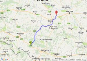 Prószków (opolskie) - Łowicz (łódzkie)