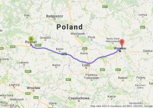 Trasa Poznań - Marki