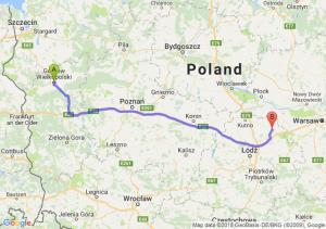 Trasa Gorzów Wielkopolski - Łowicz