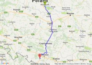 Włocławek (kujawsko-pomorskie) - Czerwionka-Leszczyny (śląskie)