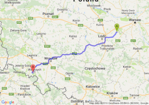 Skierniewice (łódzkie) - Boguszów-Gorce (dolnośląskie)