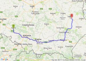 Opole (opolskie) - Świdnik (lubelskie)
