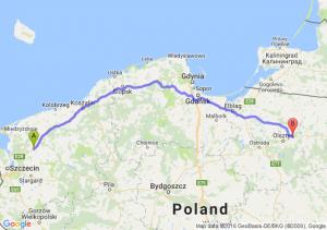 Nowogard (zachodniopomorskie) - Barczewo (warmińsko-mazurskie)