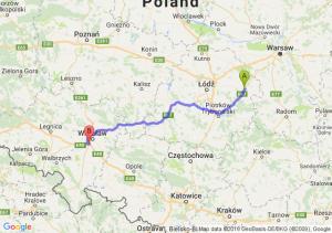 Trasa Rawa Mazowiecka - Bielany Wrocławskie
