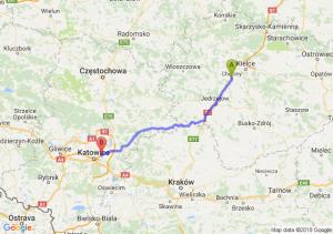 Trasa Chęciny - Sosnowiec
