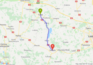 Trasa Turek - Sieradz