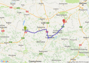 Trasa Sieradz - Rawa Mazowiecka