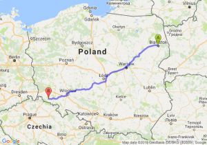 Trasa Białystok - Jelenia Góra