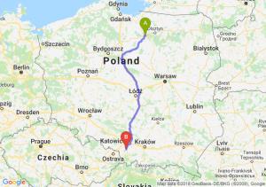 Trasa Ostróda - Pszczyna